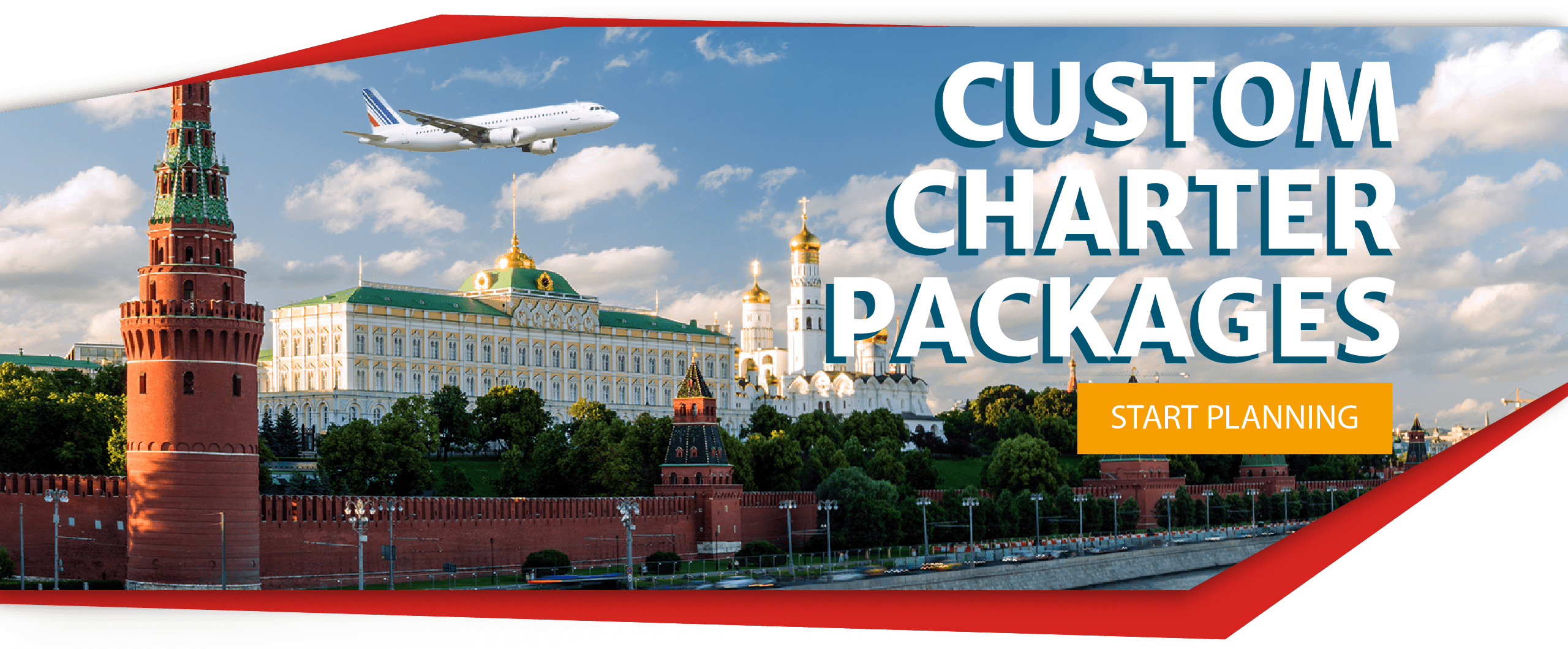 Link to contact form on a picture of russia advertising custom charter packages