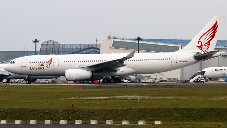 exterior of a airbus 330-200 provided by worldwide charter gourp