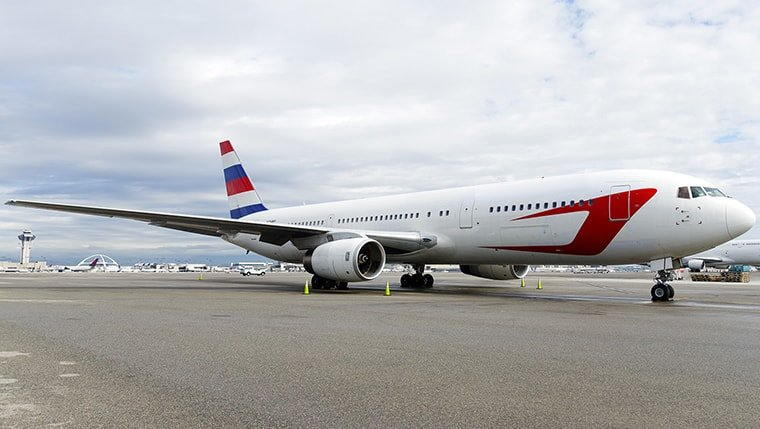 Exterior photo of a Boeing 767 200er